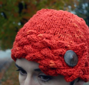 Button Up Cloche Pumpkin