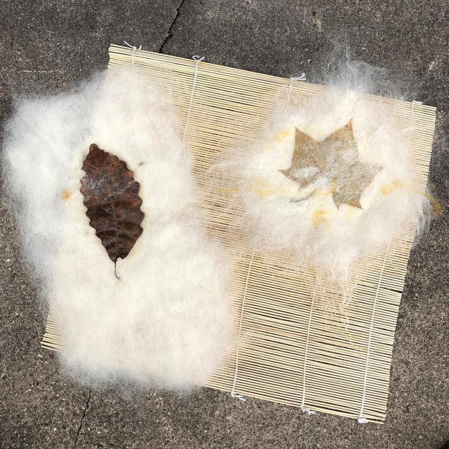 experiments in leaves and wool and wax.jpg